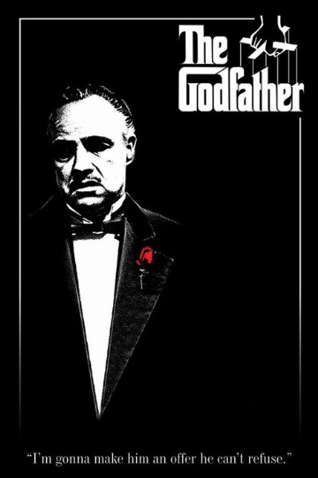The Godfather. Red Rose Maxi Poster. Marlon Brando